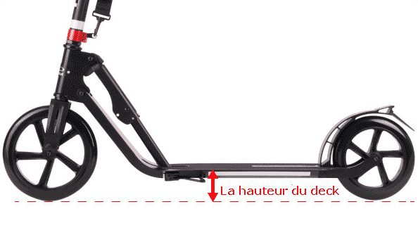 hauteur du deck trottinette adulte