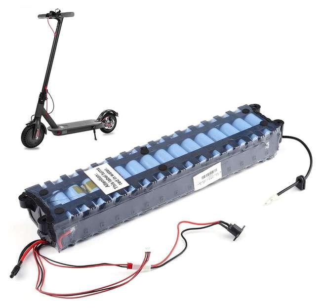 batterie et trottinette electrique